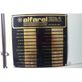 178KW Vertical Alfarel, Secondhand Steam Boiler.