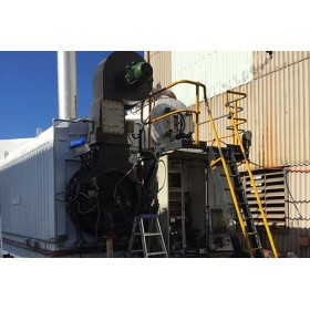 6 MW John Thompson Super D, Water tube, Light oil or Natural gas fired Steam Boiler