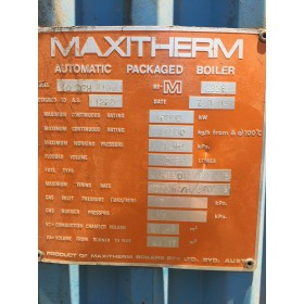 10 MW, S/H, Maxitherm, Oil or Gas Fired, Water Tube, Steam Boiler